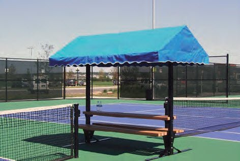 Tennis, Bocce, Golf Court Accessories - Cabanas - Cabana Bench Table - REPLACEMENT CANOPY ONLY - 10' long by Har-Tru