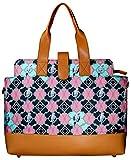 Women stylish Spacious Laptop Briefcase Tote Handbag Designer Bag Fits upto 17' Laptop Vegan PU Leather Parrotize Print
