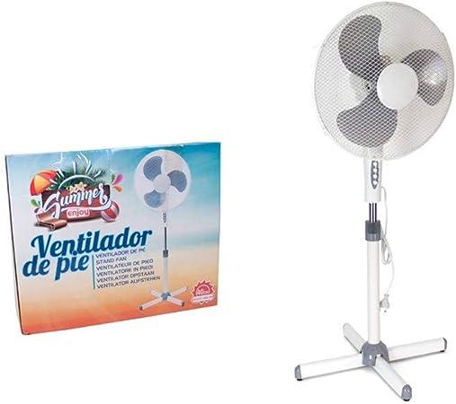 Gerimport Ventilador De Pie Plastico 40cm: Amazon.es: Hogar