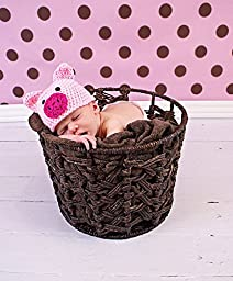 Newborn baby infant photography prop handmade woven basket D-47