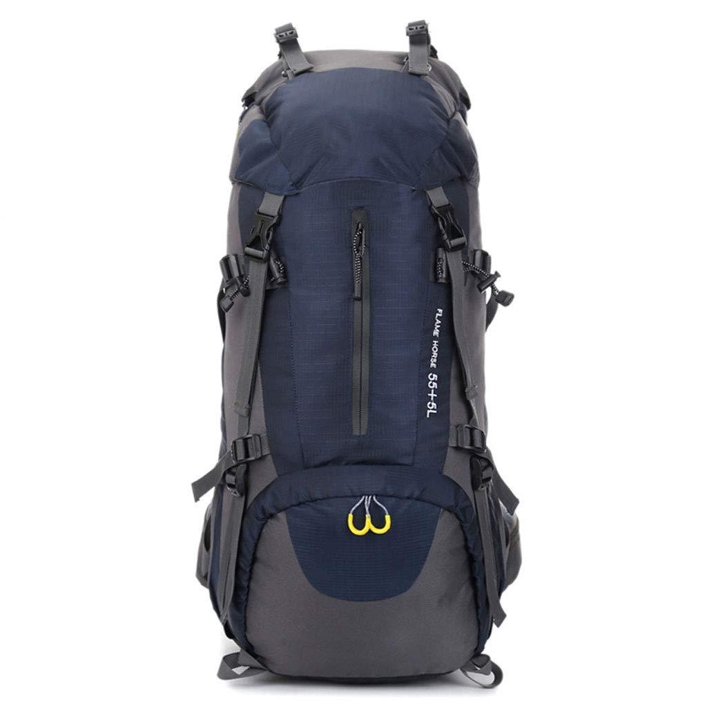WERT アウトドア 登山用バッグ - ダブルショルダー ユニセックス 長さ60インチ 大容量 旅行用バックパック ナイロン 防水 旅行用バッグ B07H9Z5D46 マルチカラー