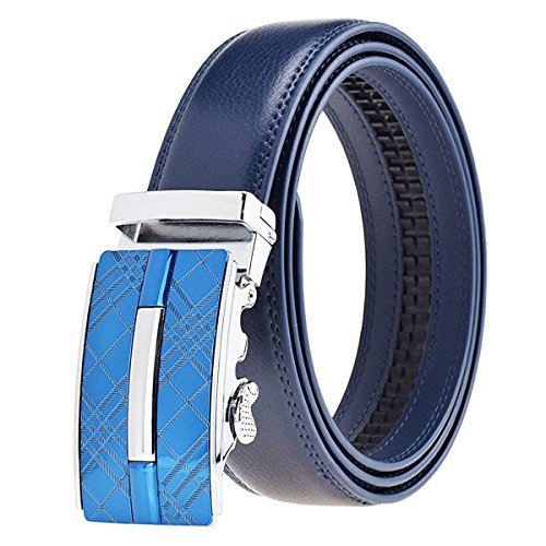 0d2ad42dfbb3f ITIEZY Men s Leather Ratchet Belt Automatic Sliding Buckle Designer Belt  For Men