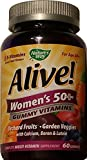 ALIVE – Womens, 50 and Over, Multivitamin Chewable Gummies 60 CT Pack of 2