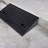 Curb Ramps, 2Pcs Heavy Duty Rubber Threshold Ramp