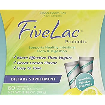 Global Health Trax Fivelac, .053 Ounce Packets 60-Count
