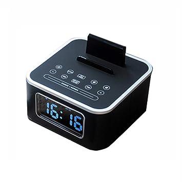 Despertador LITING_Wang LED Pantalla Digital Volumen Grande Música Control Remoto Altavoz Inteligente U Disco Reproducción Tono Personalizado Reloj de Cama ...