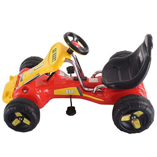 Pedal Toys For Boys : Costzon go kart wheel kids ride on car pedal powered