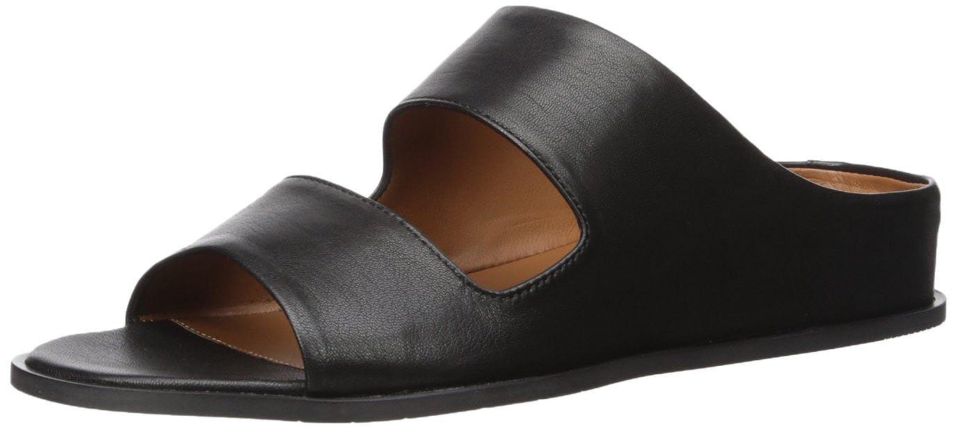 Black Aquatalia Womens Abbey Soft Nappa Flat Sandal