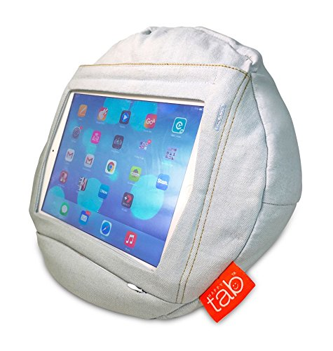 Trademark Global Jean (HAPPYtab to fit iPads –Weekend Jeans. True Comfort. Your iPad is held securely offering real protection. It's an iPad bean bag, pillow, cushion accessory, stand. Shapes to fit our bodies)