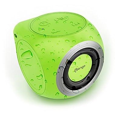 Mengo AquaCube, Waterproof Speaker [3W Ultra Clear Sound] Waterproof Portable Bluetooth (4.1) Speaker – Green – Retail Packaging