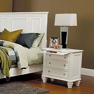 Sandy Beach White Nightstand by Coaster Furniture