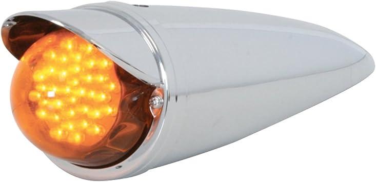 GG Grand General 93063 Cab Am Led Watermelon Light Amber Glass Lens with O Visor