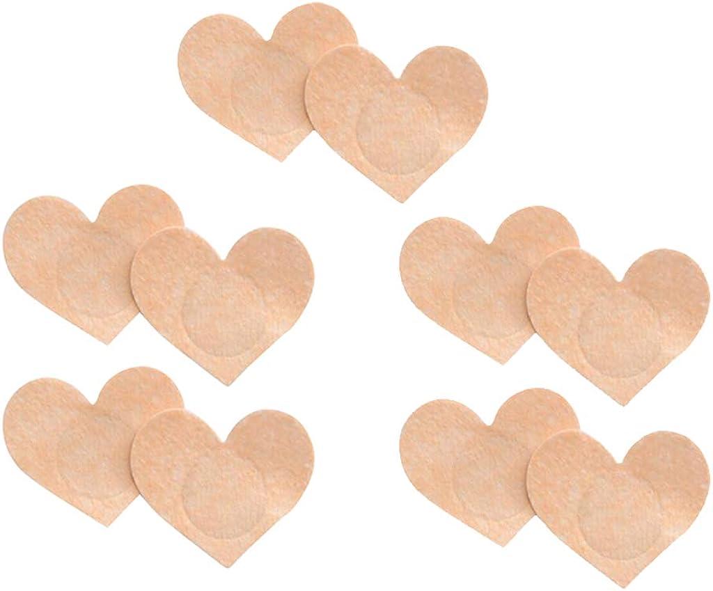 Bikini Badeanzug chiwanji 5 Paar Nippelcover Brustwarzenabdeckung selbstklebende Einlagen Nippelpads Einweg Nippel Cover f/ür Neckholder