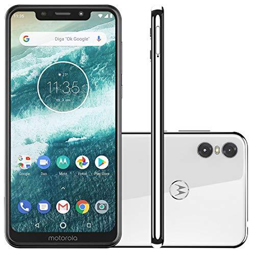 """Smartphone Motorola One Branco 64GB 4GB RAM Tela de 5.9"""" Câmera Traseira Dupla Dual Chip"""
