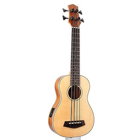 ZXZX Ukulele 30 Pulgadas De Madera Electrica Bajo Guitarra 4 Cuerdas ...