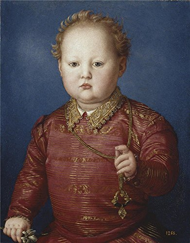 The High Quality Polyster Canvas Of Oil Painting 'Bronzino Garcia Of Medici Ca. 1550 ' ,size: 24 X 31 Inch / 61 X 78 Cm ,this Best Price Art Decorative Canvas Prints Is Fit For Bedroom Decoration And Home Gallery Art And Gifts]()