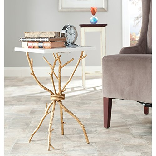 Alexa Accent Table White Gold product image
