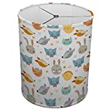 Hardback Linen Drum Cylinder Lamp Shade 8'' x 8'' x11'' Spider Construction [ Cute Animals ]