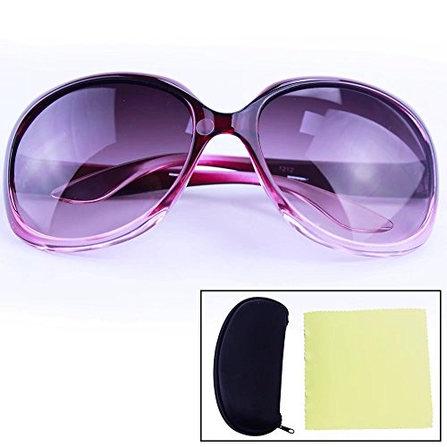 Sealive Kids Sunglasses Big Frame UV400 Rated for Ages 3-10 Boys Girls(Purple),with a Portable Zipper Eye Glasses Shell and a Microfiber Cleaning Cloth(Random Color),Perfect for Outdoor - Sunoptic Frames