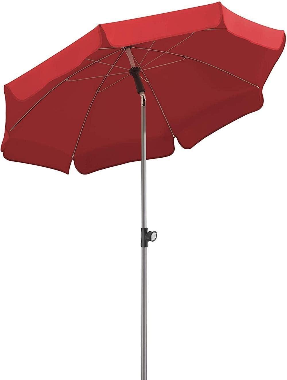 Protector Solar Paraguas de Sol Rojo / / / Naranja Azul Amarillo/Verde de Sombra al Aire Libre Patio con Convertido sombrilla de Playa Proteccion (Color : Red)