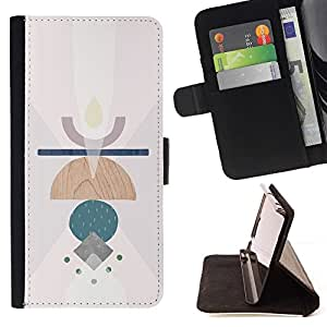 For Samsung ALPHA G850 Case , Símbolos Vela Resumen Significado Arte Limpio- la tarjeta de Crédito Slots PU Funda de cuero Monedero caso cubierta de piel
