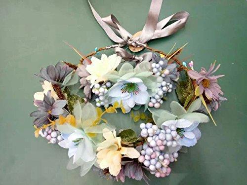Gold Enamel Wreath - 5