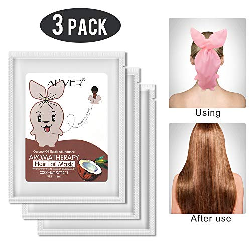 Hair Tail Mask 3 Pack,Hydrating Hair Mask Deep Conditioning Mask, Intense Hydration for Those with Dry, Damaged, Chemically Treated or Lifeless Hair (Coconut)