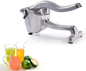 Heavy Duty Single Press Lemon Squeezer, Aluminum and Steel Business Lime Manual Juicer Fruit Hand Press Squeezer Grinder Home Kitchen Tools