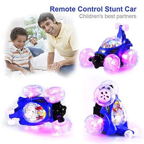 UTTORA Ferngesteuertes Auto, Kinderspielzeug für Jungen Mädchen, Dual Modi 360° Drehbarer Stunt Rennwagen LED-Lichter, USB-Kabel, Kontrollierte Schaltermusik ,Crawler,Geschenk für Jungen Mädchen