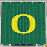 IWKULAD Oregon Ducks Logo Customized Shower Curtains