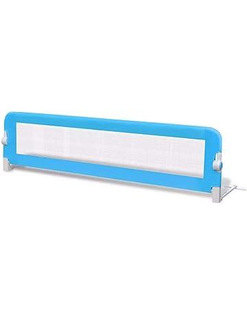 vidaXL Barandilla seguridad de color azul infantil para la cama 150 x 42 cm