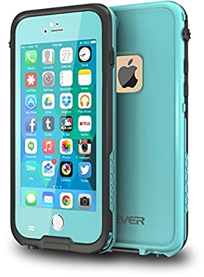 CellEver iPhone 6 Plus Case Waterproof Shockproof IP68 Certified SandProof SnowProof Diving Full Body Protective Cover Fits Apple iPhone 6 Plus and iPhone 6s Plus (Ocean Blue) from CellEver