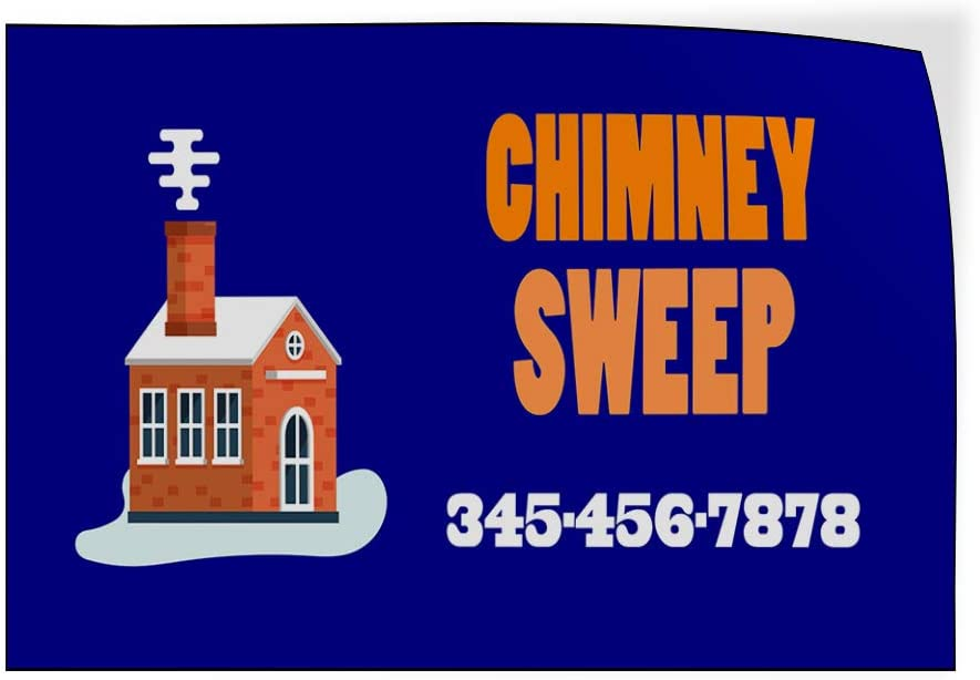 Custom Door Decals Vinyl Stickers Multiple Sizes Chimney Sweep Phone Number Blue Business Chimney Cleaning Outdoor Luggage /& Bumper Stickers for Cars Blue 30X20Inches Set of 5