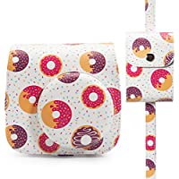 Woodmin Groovy Donut PU Leather 2-in-1 Accessories Bundle Set for Fujifilm Instax Mini 8 Mini 9 Camera (Camera case/Photo case)