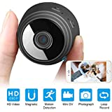 Mini Spy Camera Wireless Hidden Camera Wifi,1080P Hidden Spy Camera with Night Vision/Motion Detection/150°Wide Angle for Home Security(IOS&Andriod App Support)