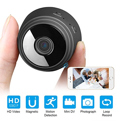 Mini Wifi Spy Camera Wireless Hidden Camera,Hidden Spy Camera Wireless Wifi Home Security Camera with Night Vision/Motion Detection/Wide Angle(iOS&Andriod App)