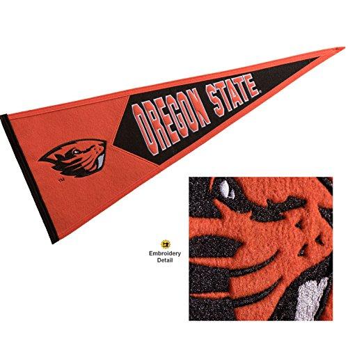 (Winning Streak Oregon State Beavers Wool Embroidered and Sewn Pennant )