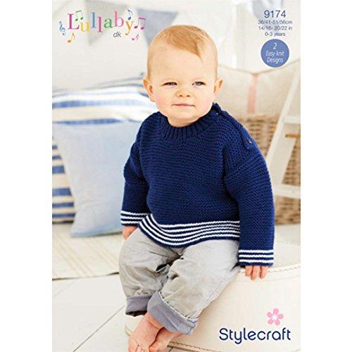 Stylecraft Baby Cardigan & Sweater Lullaby Knitting Pattern 9174 DK