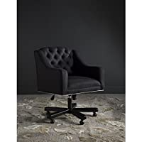 Safavieh Mercer Collection Salazar Black and Taupe Office Chair