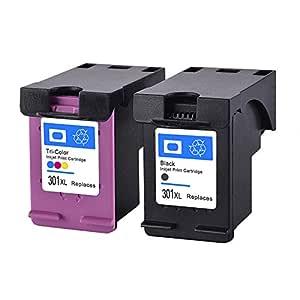 Remanufacturados HP 301XL 301 XL Cartucho de tinta para 2 Paquete ...