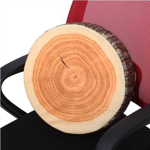 Singeek Log-shaped Head Rest Pillow Decorative Wood Columns Novelty (36 x 17.8cm)