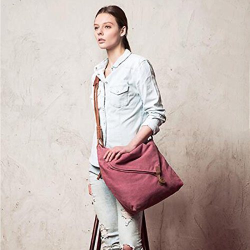 FXTXYMX Rose Canvas Bags and Cross Women Men Fold Shoulder Messenger for Totes Bags Handbag Hobo Body Purse Bag Red Over rRqCEwfr