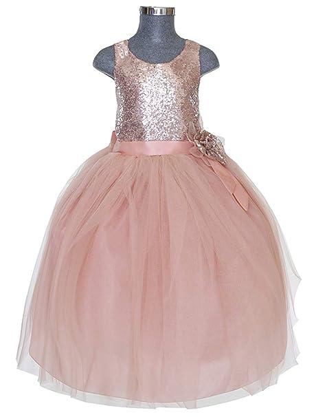 fab428b7d Maylin Vestido de Fiesta Presentación Mo. Ariatna para Niña (Salmon ...