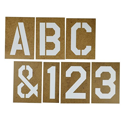 Duro by Graphic Products Stencil-It Oil Board Stencil Set, 10