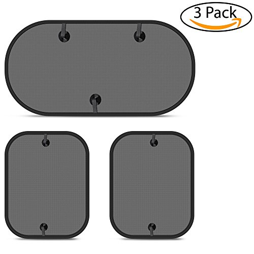 Rear Window Shade - Power Tiger CAR ACCESSORIES Car Window Shade - (3 Pack) Foldable 20