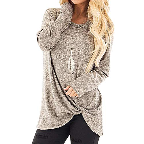 (Casual T-Shirt for Womens Cold Shoulder Short Long Sleeve Sleeveless Knot Front Tunic Top LIM&Shop Blouse)