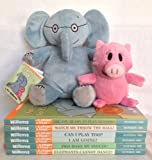 Mo Willems Elephant and Piggie Six Book Bundle with Plush Doll [Are You Ready to Play Outside?, Watch Me Throw the Ball, Elephants Cannot Dance, Pigs Make Me Sneeze, I Am Going!, Can I Play Too?]