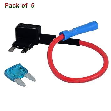 amazon com 12v 15amp car add a circuit fuse tap adapter xdodd mini rh amazon com