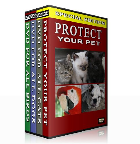 Protect Your Pet -Complete Series (Box Set) DVD for all Cats, DVD for all Dogs, DVD for all Birds and Protect your puppy DVD.