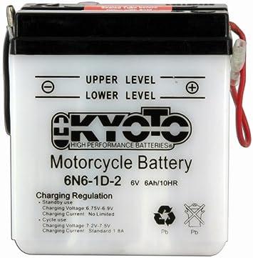 KYOTO Batterie Moto 6n4a-4d L 58mm W 62mm H 131mm 6v 4ah Acide 0,2l